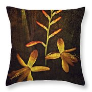 Crocosmia Throw Pillow