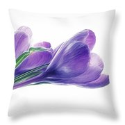 Crocuses - Impressions Throw Pillow