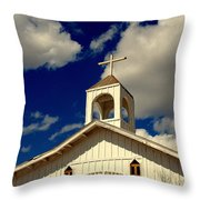 Crooked Creek Chapel Throw Pillow
