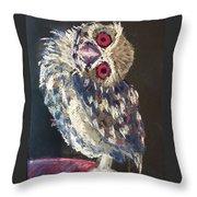 Crooked Owl Throw Pillow
