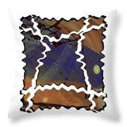 Crooked Roads Throw Pillow
