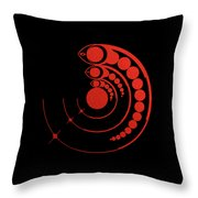 Crop Circle Formation Near Avebury Stone Circle In Wiltshire England In Red Throw Pillow