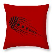 Crop Circle Formation Near Wayland's Smithy In Oxfordshire England In Black Throw Pillow