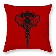 Crop Circle Formation Near Yatesbury In Wiltshire England In Black Throw Pillow