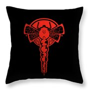 Crop Circle Formation Near Yatesbury In Wiltshire England In Red Throw Pillow