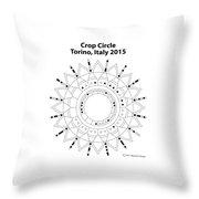 Crop Circle Italy 2015 Throw Pillow