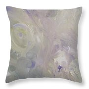 Crop Circles In Purple And Green Throw Pillow