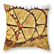 Crop Circles Throw Pillow