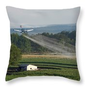 Crop Dusting Throw Pillow