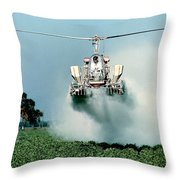 Cropdusting Throw Pillow