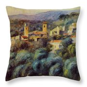 Cros De Cagnes 1905 Throw Pillow