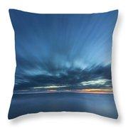 Crosby Beach High Tide Throw Pillow