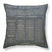 Crosby Pro Am Winners Circle  Throw Pillow