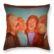 Crosby, Stills, Nash And Young Throw Pillow