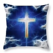 Cross Abstract Throw Pillow