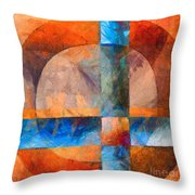 Cross And Circle Abstract Throw Pillow