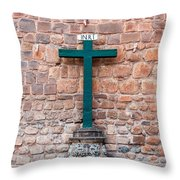 Cross And Cusco Cathedreal Throw Pillow