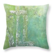 Cross And Fish  Throw Pillow
