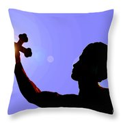 Cross And Sun Throw Pillow