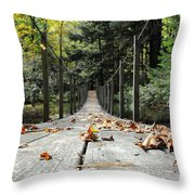 Cross At Own Risk Throw Pillow