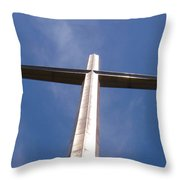 Cross At St. Augustine Throw Pillow