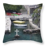 Cross In A Harbor Throw Pillow