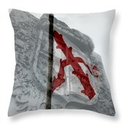 Cross Of Burgundy And Spanish Crest Throw Pillow