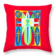 Cross Of Colors Throw Pillow
