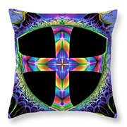 Cross Of One Way To God Throw Pillow