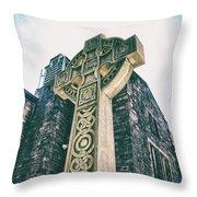 Cross Of Stone Throw Pillow