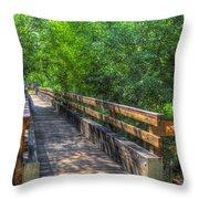 Cross Over The Bridge - Sedona Arizona Throw Pillow
