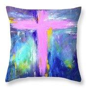 Cross - Painting #5 Throw Pillow