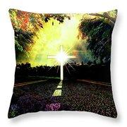 Cross Road Throw Pillow