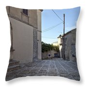 Cross Road In Sicily Throw Pillow