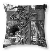 Cross Series IIi In Black And White Throw Pillow