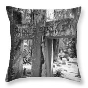 Cross Series Iv In Black And White  Throw Pillow