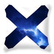 Cross Storm Throw Pillow