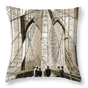 Cross That Bridge Vintage Photo Art Throw Pillow
