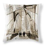 Cross That Bridge Vintage Photo Art Throw Pillow