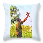 Cross To The Sky Throw Pillow