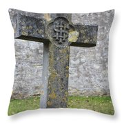 Cross Tombstone St. Mary's Wedmore Throw Pillow
