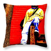 Cross Town Run Throw Pillow