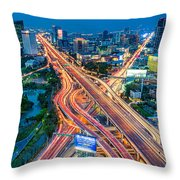 Cross Town Traffic Throw Pillow