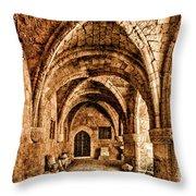 Rhodes, Greece - Cross Vault Throw Pillow