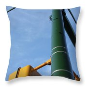 Cross Walk Pole Throw Pillow