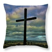 Cross Without Words Throw Pillow