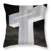 Cross Your Statues Throw Pillow