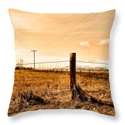 Crossed Wires Throw Pillow