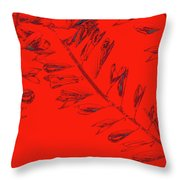 Crossing Branches 12 Throw Pillow