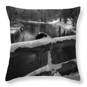 Crossing Cedar Creek Throw Pillow